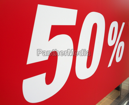 50 discount sign