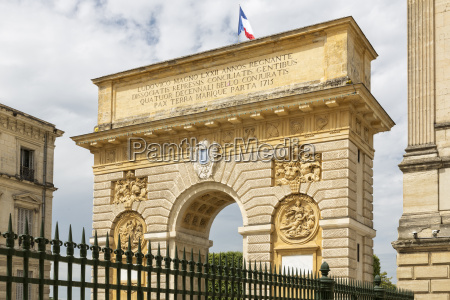 historic triumphal arch in montpellier southern