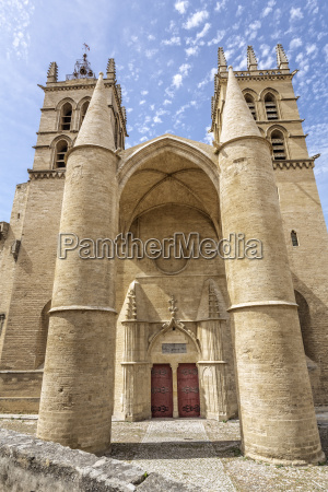 cathedral in montpellier southern france