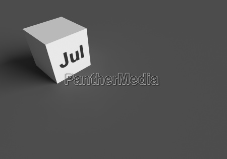 3d rendering of jul abbreviation of
