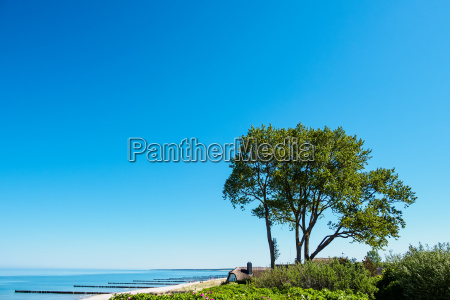 beach on the baltic sea at