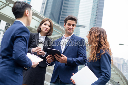 business team talk to each other