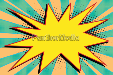 yellow comic burst explosion pop art
