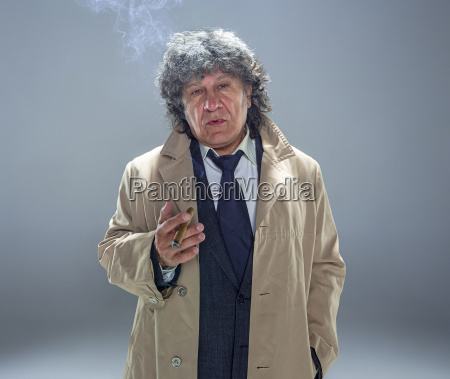 the senior man with cigar as