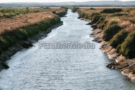 ribeira de quarteira river near beach