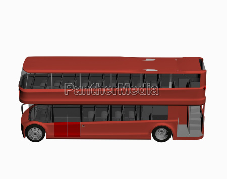 red english double decker bus freed