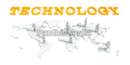 technology concept with business team