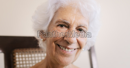 elderly woman old lady relaxing on