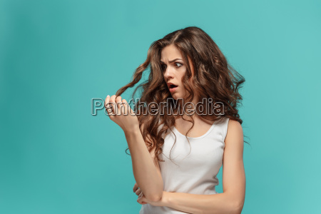 frustrated young woman having a bad