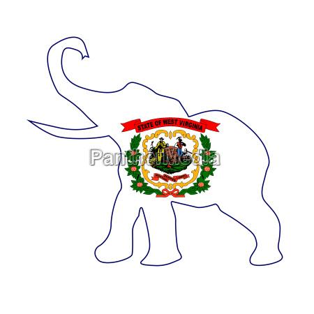 west virginia republican elephant flag