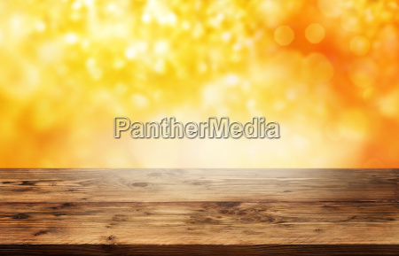 abstract autumn background with golden bokeh