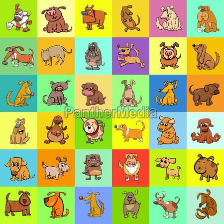 cartoon dogs pattern design