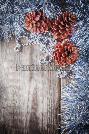 home decor pine cones on a