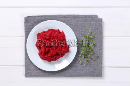 fresh beetroot puree