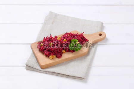 fresh beetroot spread with walnuts