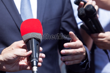 tv or media interview with politician