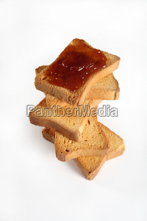 biscuits with jam viewed from above