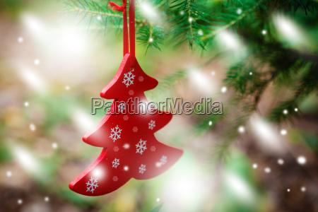 christmas ornaments including toys on christmas