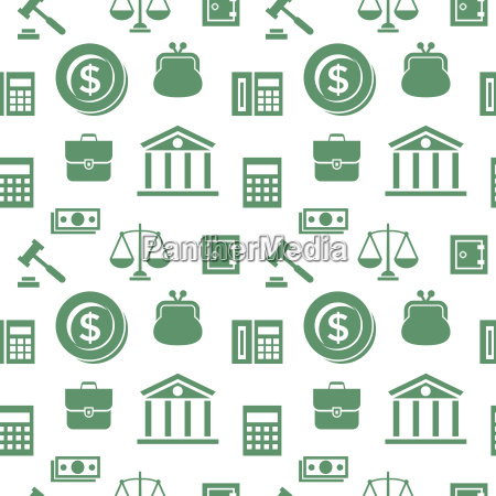 digital vector green business icons with
