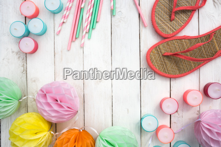 summer accessories for a beach party