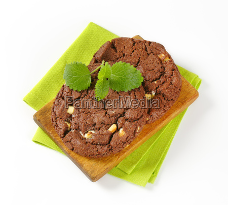 chocolate nut fudge cookies