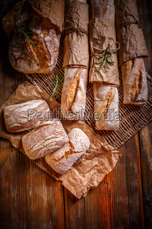 different fresh bread