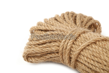burlap jute twine coil skein isolated
