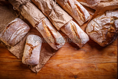 different fresh breads