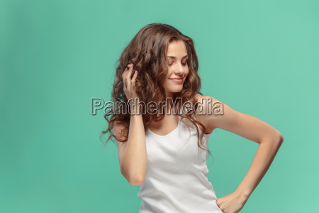 the, young, woman's, portrait, with, happy - 22643721