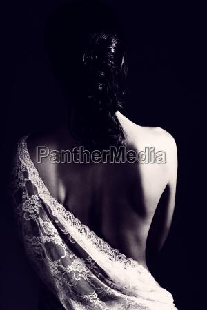 gentle, woman, wearing, lace, dress - 22646197