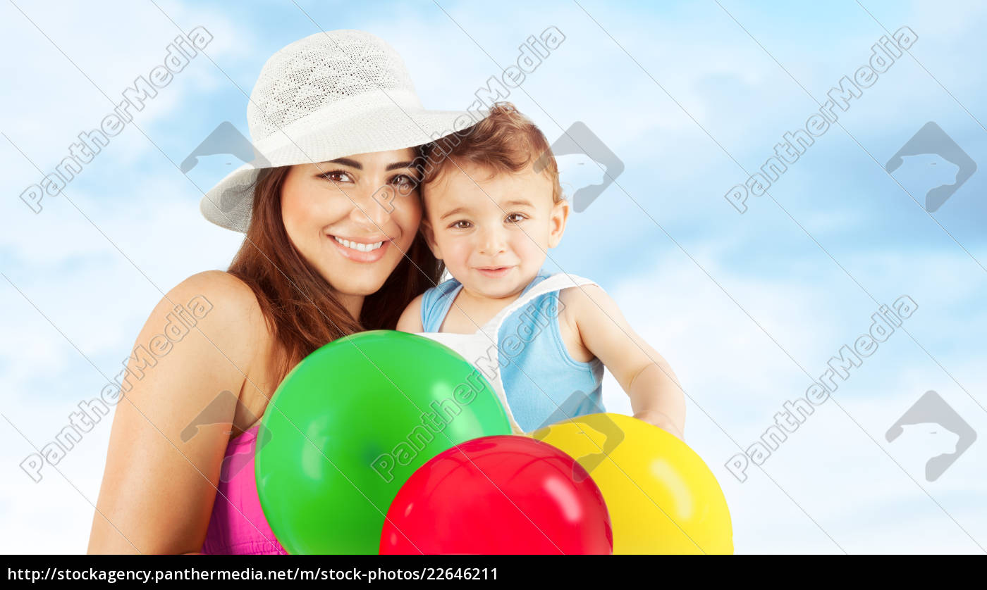 happy, mother, with, baby - 22646211