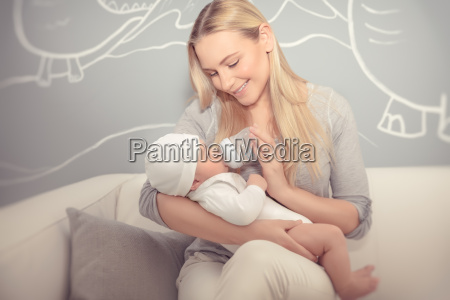 mother, feeding, her, baby - 22646185