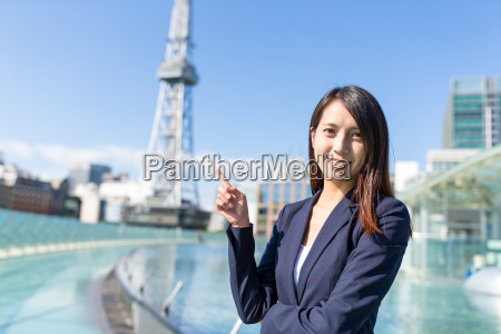 businesswoman, in, nagoya, city - 22648041