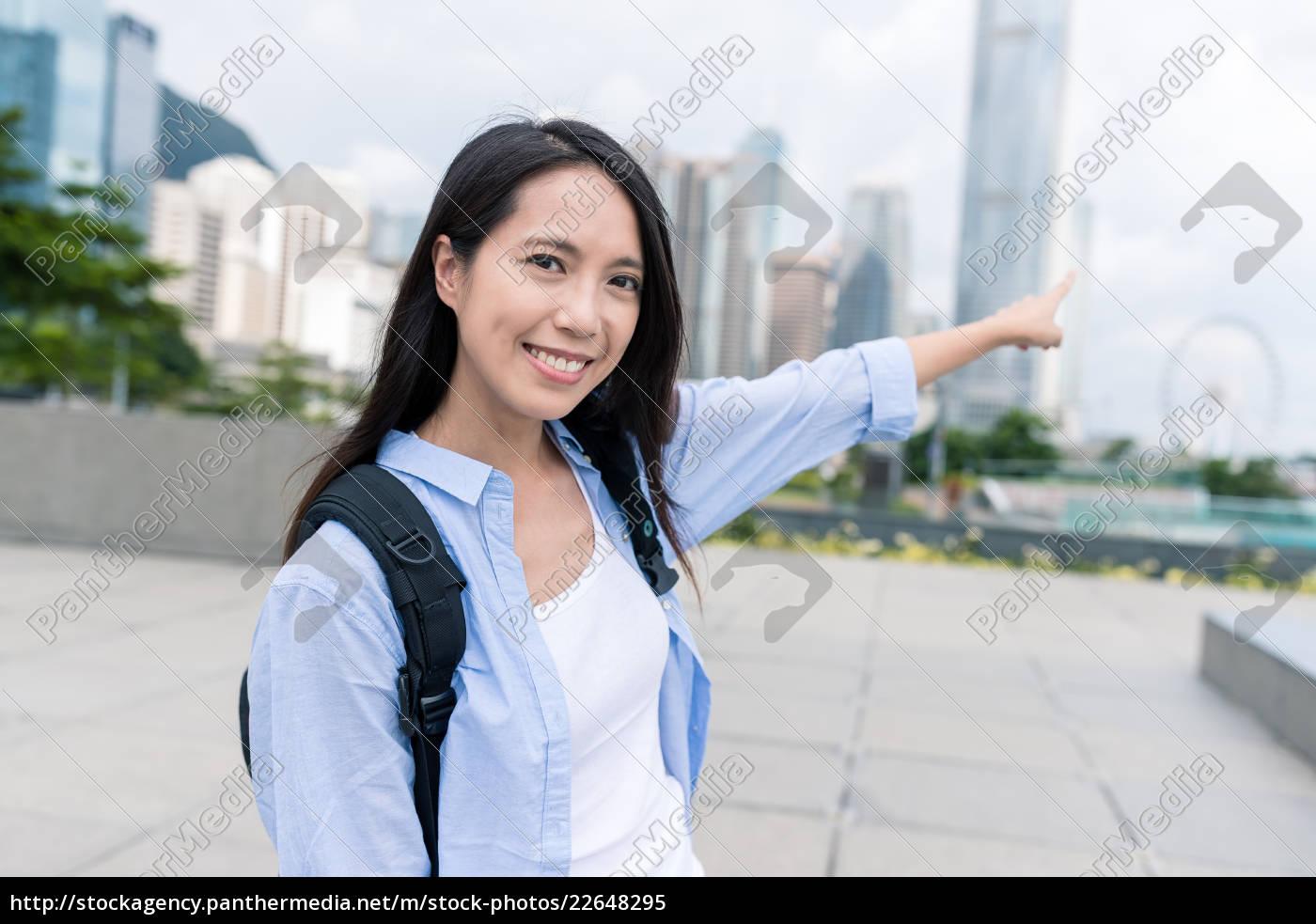 happy, woman, visit, hong, kong - 22648295