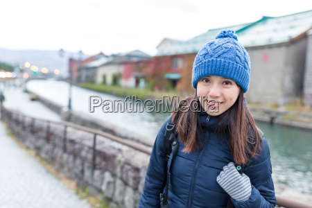 woman, travel, in, otaru, city, at - 22648059