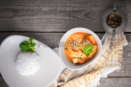 chicken curry and rice