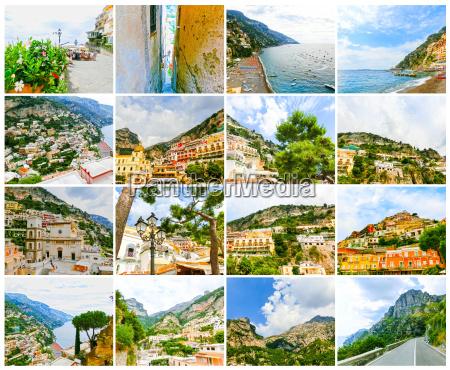 positano italy along the stunning amalfi
