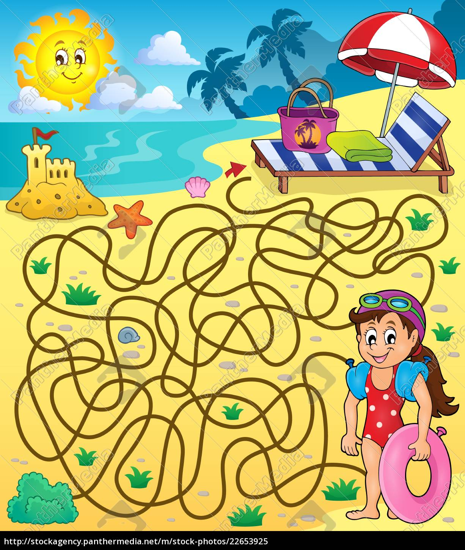 maze, 28, with, beach, theme, 1 - 22653925