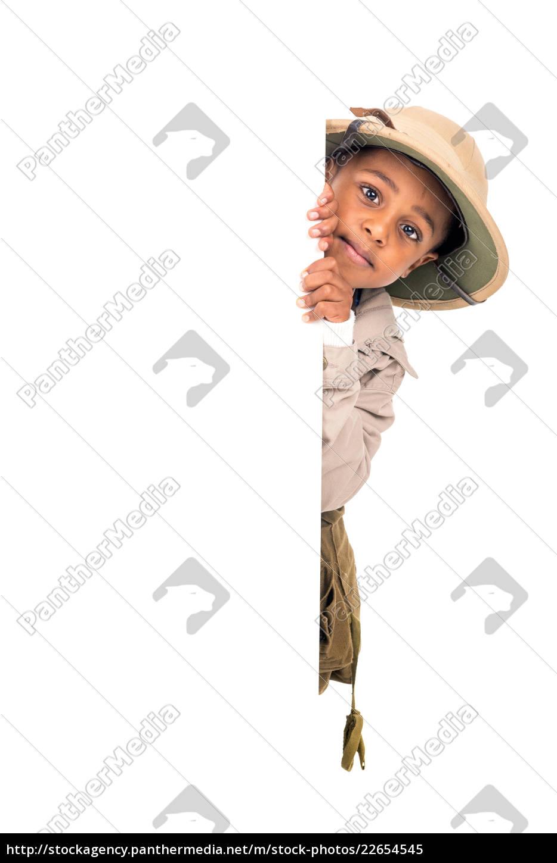 boy, in, safari, clothes - 22654545