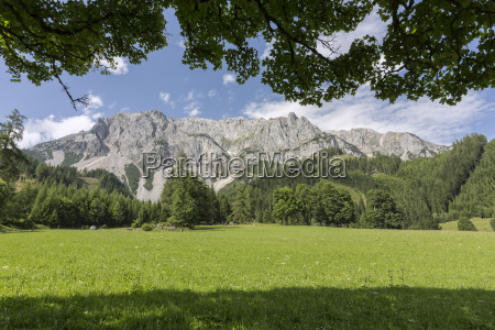 partial view of the southern dachstein