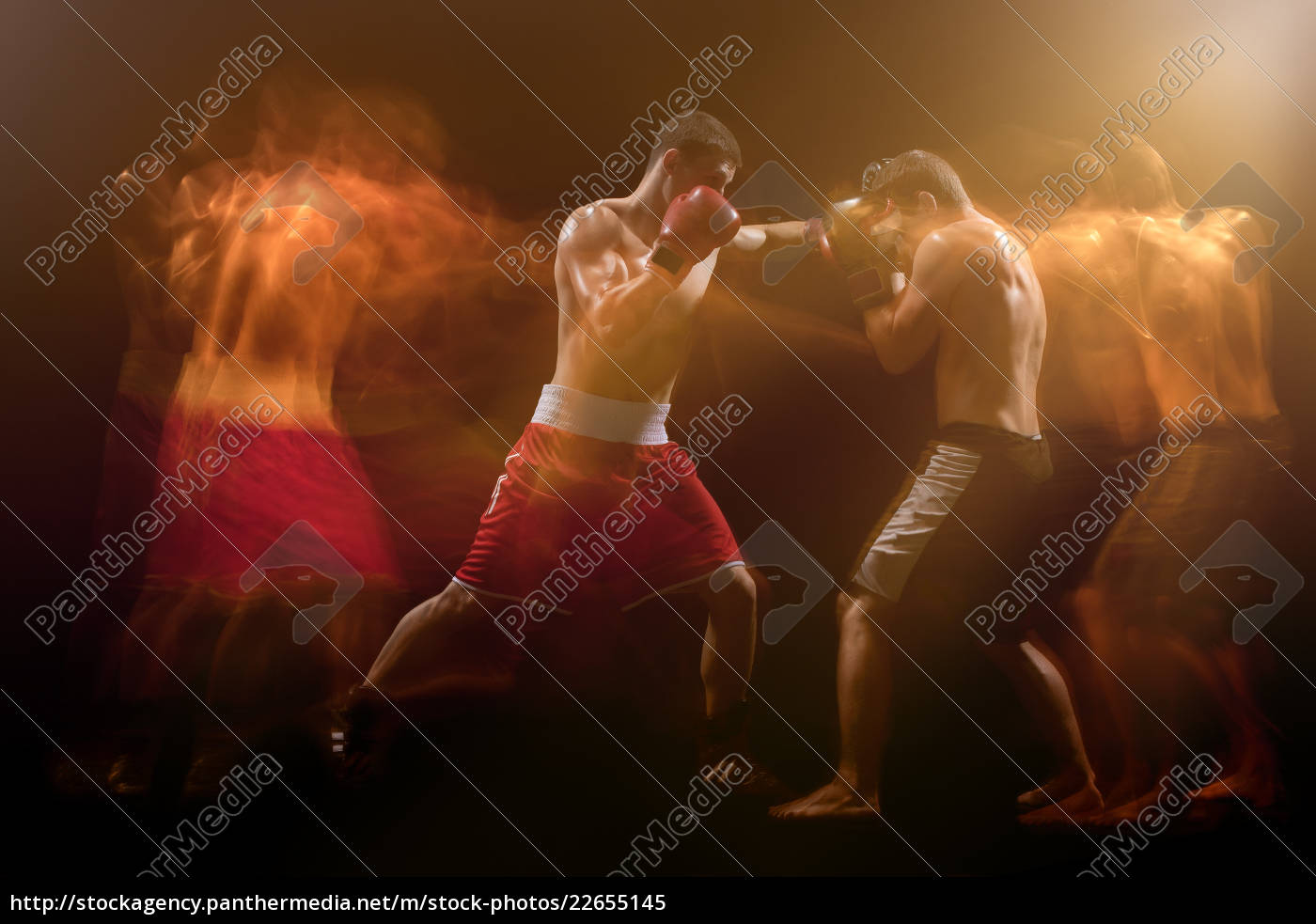 the, two, male, boxers, boxing, in - 22655145