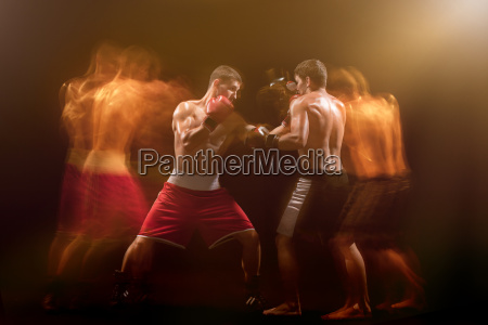 the, two, male, boxers, boxing, in - 22655147