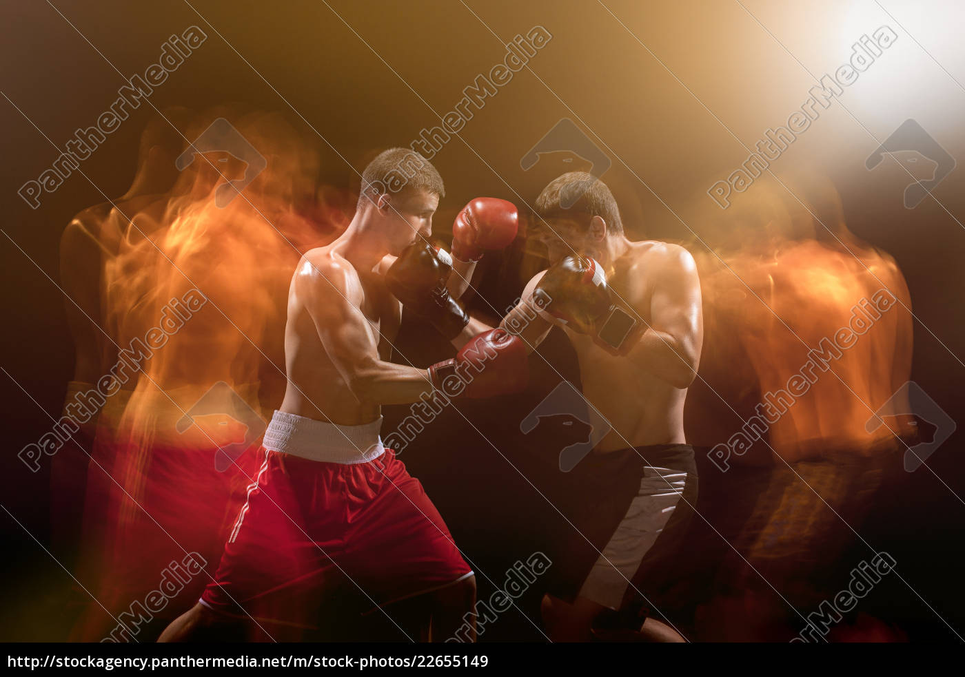 the, two, male, boxers, boxing, in - 22655149