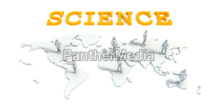 science concept with business team