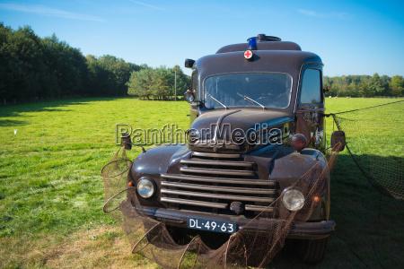 vintage ambulance truck