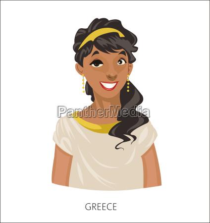 digital vector funny cartoon smiling greek
