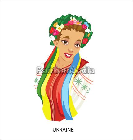 digital vector funny cartoon smiling ukraine