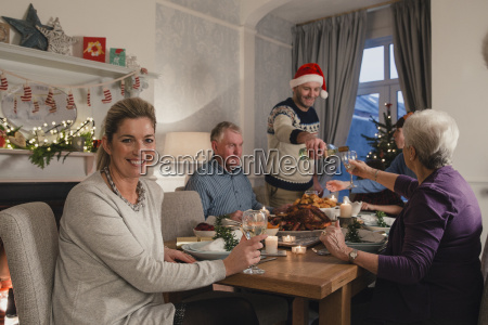 happy, mother, at, christmas, dinner - 22658513