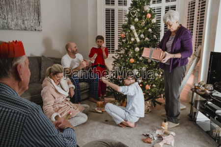 opening, presents, on, christmas, morning - 22658577