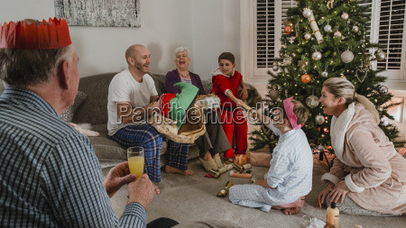 opening, presents, on, christmas, morning - 22658579